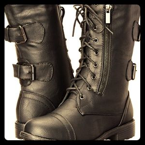 Military Combat Boots, Size 7 1/2